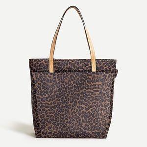 JCREW leopard mesh bag cheetah tote reusable